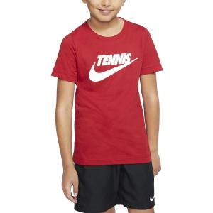 Polo y Camisetas de Tenis Nike Court Camiseta Nino  Gym Red/Black CJ7758687
