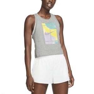 Canotte Tennis Donna Nike Court Print Canotta  Dark Grey Heather CT4376063