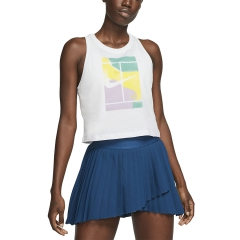 Nike Court Print Top - White