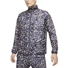 Nike Court Print Jacket - Gridiron/White