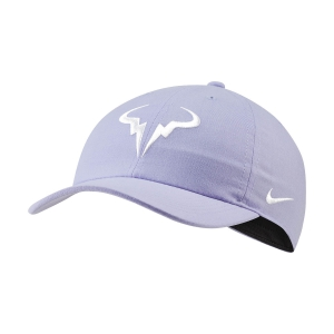 Tennis Hats and Visors Nike Court Rafa Aerobill H86 Cap  Purple Pulse/White 850666531