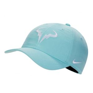 Tennis Hats and Visors Nike Court Rafa Aerobill H86 Cap  Light Aqua/White 850666468