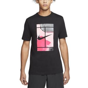 Men's Tennis Shirts Nike Court Swoosh TShirt  Black CQ2422010