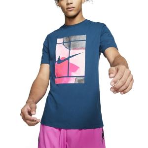 Men's Tennis Shirts Nike Court Swoosh TShirt  Valerian Blue CQ2422432
