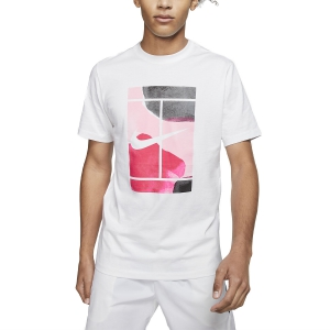 Men's Tennis Shirts Nike Court Swoosh TShirt  White CQ2422100