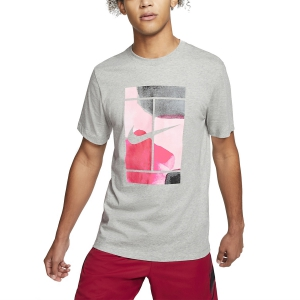 Men's Tennis Shirts Nike Court Swoosh TShirt  Dark Grey Heather CQ2422063