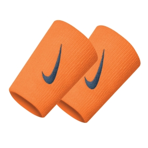 Tennis Head and Wristbands Nike DoubleWide Wristbands  Alpha Orange/Thunderstorm N.000.1586.837.OS
