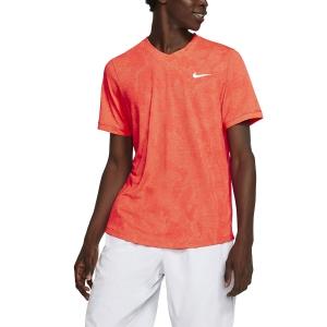 Men's Tennis Shirts Nike DriFIT Challenger TShirt  Laser Crimson/White BV0766644