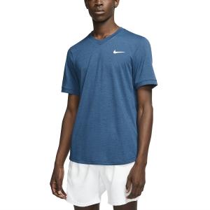 Camisetas de Tenis Hombre Nike DriFIT Challenger Camiseta  Valerian Blue/White BV0766432