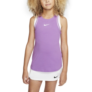 Top and Shirts Girl Nike Dry Tank Girl  Purple Nebula/White AR2501532