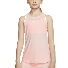 Nike Dry Tank Girl - Washed Coral/White