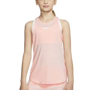 Top y Camisetas Niña Nike Dry Top Nina  Washed Coral/White AR2501664