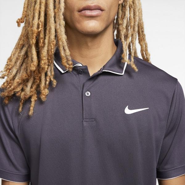 Nike Dry Team Polo - Gridiron/White