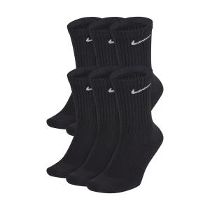 Tennis Socks Nike Everyday Cushion Crew x 6 Socks  Black/White SX7666010