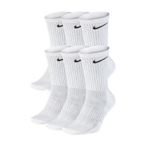 Tennis Socks Nike Everyday Cushion Crew x 6 Socks  White/Black SX7666100