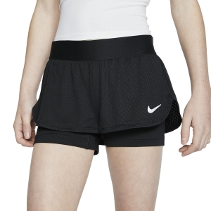 Shorts and Skirts Girl Nike Flex 2 in 1 1in Shorts Girls  Black/White CJ0948010