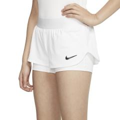 Nike Flex 2 in 1 1in Shorts Girls - White/Black
