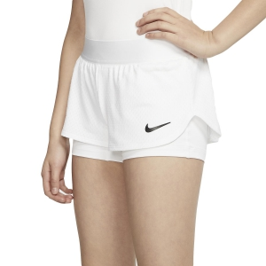 Shorts and Skirts Girl Nike Flex 2 in 1 1in Shorts Girls  White/Black CJ0948100