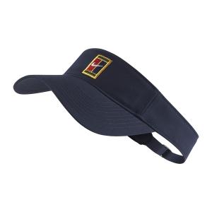 Tennis Hats and Visors Nike Heritage Logo Visor  Obsidian AQ8297451