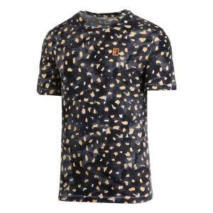 Men's Tennis Shirts Nike Print TShirt  White CD2126100
