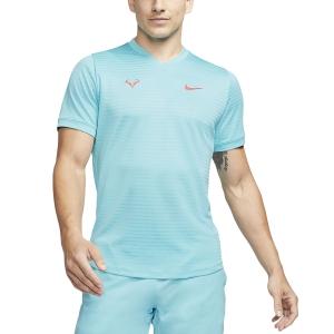 Men's Tennis Shirts Nike Rafa Challenger TShirt  Polarized Blue/Laser Crimson CI9148445