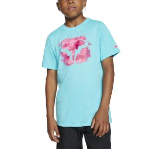 Tennis Polo and Shirts Nike Rafa TShirt Boys  Polarized Blue CU0337468