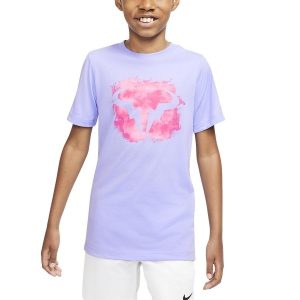 Polo y Camisetas de Tenis Nike Rafa Camiseta Nino  Purple Pulse/Digital Pink CU0337532