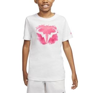 Polo y Camisetas de Tenis Nike Rafa Camiseta Nino  White/Digital Pink CU0337100