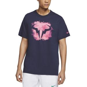 Men's Tennis Shirts Nike Rafa TShirt  Obsidian CU0324451