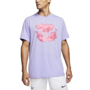 Men's Tennis Shirts Nike Rafa TShirt  Purple Pulse CU0324531
