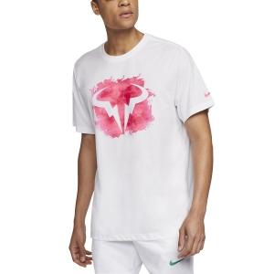 Men's Tennis Shirts Nike Rafa TShirt  White CU0324100