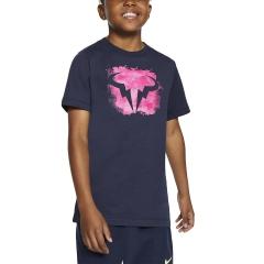 Nike Rafa T-Shirt Boys - Obsidian/Digital Pink