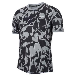 Men's Tennis Shirts Nike Team Print TShirt  Sky Grey/White BV0768042