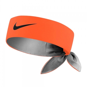 Tennis Head and Wristbands Nike Logo Headband  Total Orange/Gridiron N.000.3204.880.OS