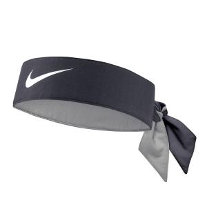Muñequeras y Bandanes de Tenis Nike Logo Banda  Gridiron/White N.000.3204.076.OS