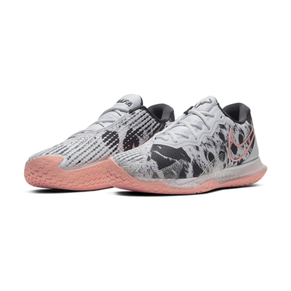 Nike Air Zoom Vapor Cage 4 Asteroid HC - Sky Grey/Bright Mango/White/Black