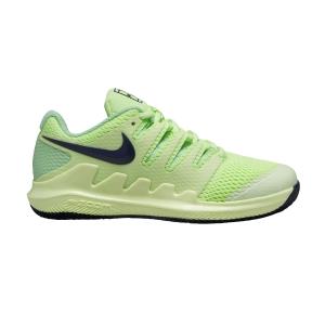 Junior Tennis Shoes Nike Vapor X Junior  Ghost Green/Blackened Blue/Barely Volt AR8851302