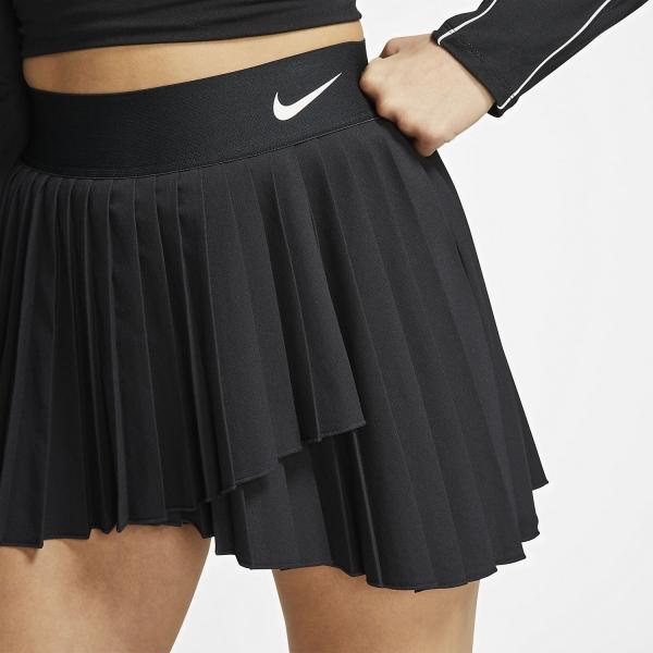 Nike Victory Pleated Falda - Black/White