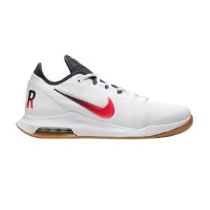 Men`s Tennis Shoes Nike Air Max Wildcard HC  White/Laser Crimson/Gridiron/Wheat AO7351105