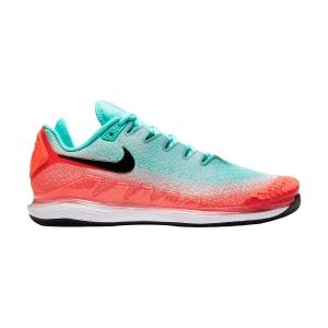 Men`s Tennis Shoes Nike Air Zoom Vapor X Knit HC  Aurora Green/Black/Hyper Crimson AR0496300