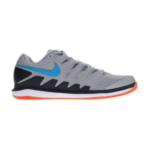 Men`s Tennis Shoes Nike Air Zoom Vapor X HC  Light Smoke Grey/Blue Hero/Off Noir/White AA8030011