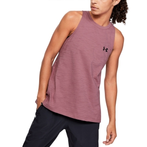 Canotte Tennis Donna Under Armour Charged Cotton Canotta  Pink 13517480662