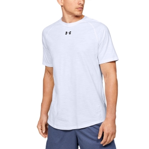 Maglietta Tennis Uomo Under Armour Charged Cotton Maglietta  White 13515700100