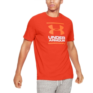 Maglietta Tennis Uomo Under Armour Foundation Maglietta  Orange 13268490856