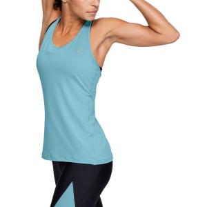 Canotte Tennis Donna Under Armour HeatGear Armour Racer Canotta  Blue 13289620425