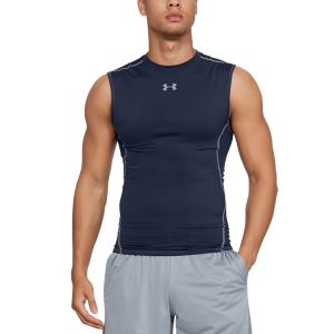 Intimo de Tenis Hombre Under Armour HeatGear Compression Top  Midnight Navy/Steel 12574690410