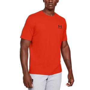 Men's Tennis Shirts Under Armour Sportstyle Left Chest TShirt  Orange 13267990856