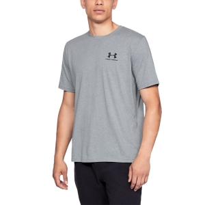 Camisetas de Tenis Hombre Under Armour Sportstyle Left Chest Camiseta  Steel Light Heather/Black 13267990036