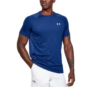 Men's Tennis Shirts Under Armour MK1 Jacquard TShirt  Blue 13515620449
