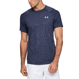 Maglietta Tennis Uomo Under Armour MK1 Jacquard Maglietta  Blue Ink/Mod Gray 13515620497